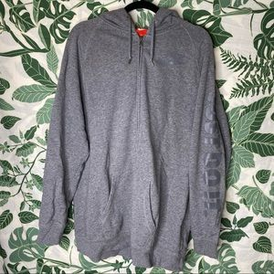{Nike} zip-up hooded sweater
